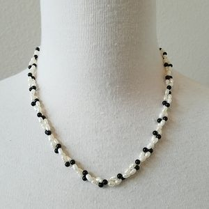 Twisting Seed Pearl Necklace and Bracelet